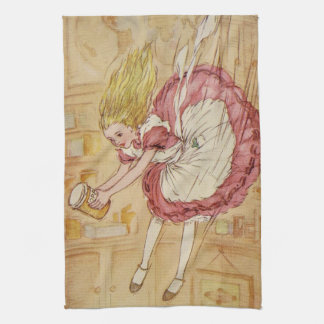 Falling Down the Rabbit Hole Kitchen Towel