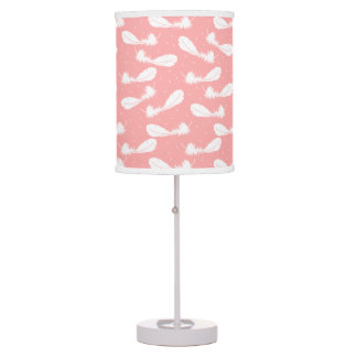 Falling Feathers Coral Table Lamp