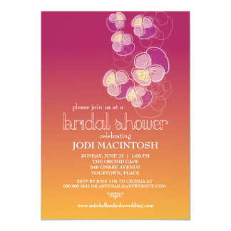 Falling Flowers Juicy Ombre Bridal Shower Card