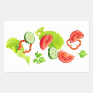 Falling fresh vegetables sticker