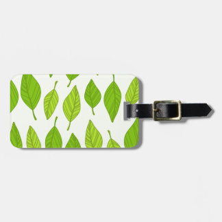 falling green leaves bag tag