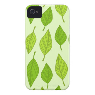 falling green leaves iPhone 4 case