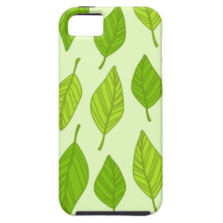 falling green leaves iPhone 5 cover