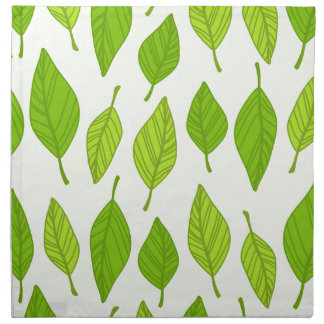 falling green leaves napkin
