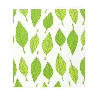 falling green leaves notepads