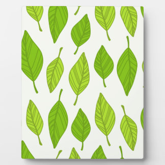 falling green leaves plaque
