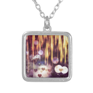 Falling hart silver plated necklace