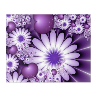 Falling in Love Abstract Flowers & Hearts Fractal Acrylic Wall Art