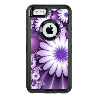 Falling in Love Abstract Flowers & Hearts Fractal OtterBox Defender iPhone Case