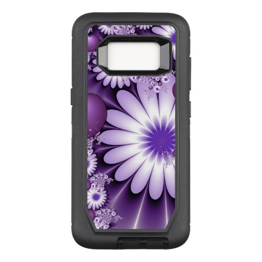 Falling in Love Abstract Flowers & Hearts Fractal OtterBox Defender Samsung Galaxy S8 Case