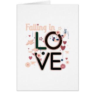 Falling In Love Greeting Card
