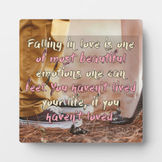 Falling In Love Plaque