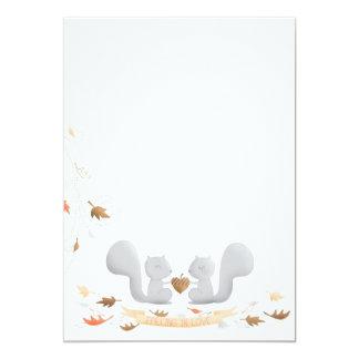 Falling in Love Squirrel Bridal Shower Invitation