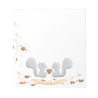 Falling in Love Squirrel notepad