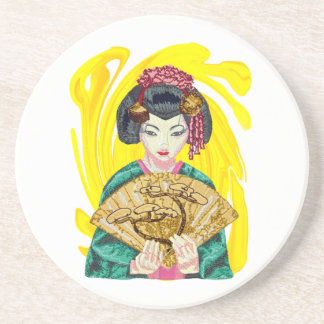 Falling in Love with the Geisha Girl Coaster