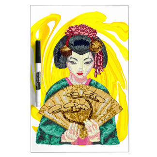 Falling in Love with the Geisha Girl Dry-Erase Whiteboard