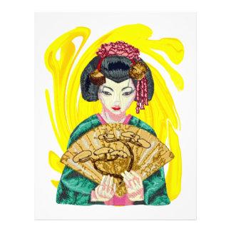 Falling in Love with the Geisha Girl Letterhead