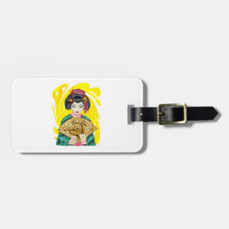 Falling in Love with the Geisha Girl Luggage Tag