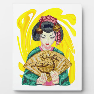 Falling in Love with the Geisha Girl Plaque
