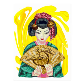 Falling in Love with the Geisha Girl Postcard