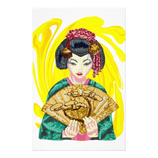 Falling in Love with the Geisha Girl Stationery