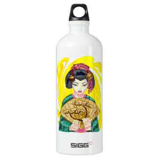 Falling in Love with the Geisha Girl Water Bottle