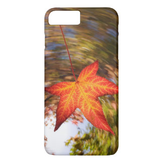 Falling Leaf from a tree in autumn iPhone 7 Plus Case