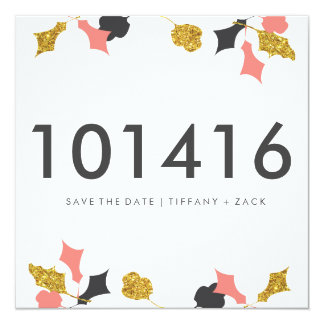 Falling Leaf Save The Date Card