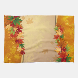 Falling Leaves Autumn Kitchen Towels
