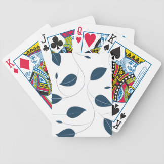 Falling leaves bicycle playing cards