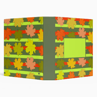 Falling leaves in autumn vinyl binder