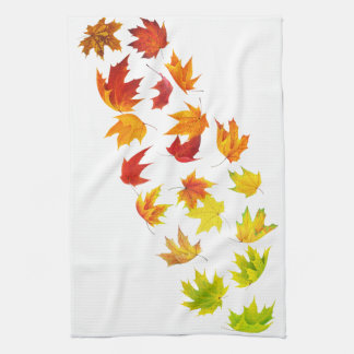 Falling leaves kitchen towel