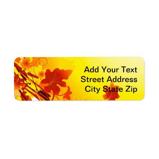 Falling Leaves Custom Return Address Label