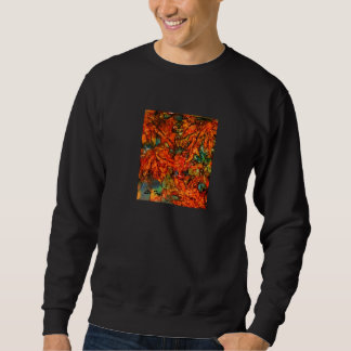Falling Leaves on Black Sweatshirt