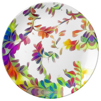 Falling Leaves Porcelain Plates