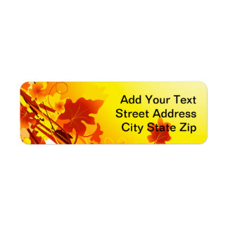 Falling Leaves Return Address Label