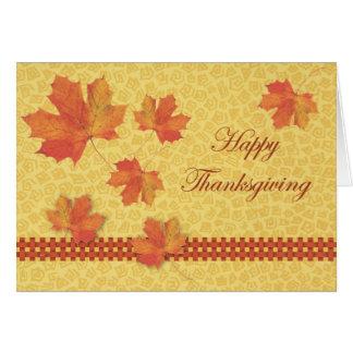 Falling Leaves Thanksgiving Card