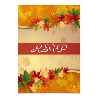 Falling Maple Leaves RSVP Card