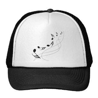 Falling notes mesh hat