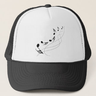 Falling notes trucker hat