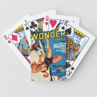 Falling Off a Glacier Bicycle Playing Cards