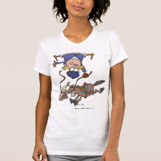 Falling Off A Horse Womens T-Shirt
