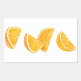 Falling orange pieces sticker
