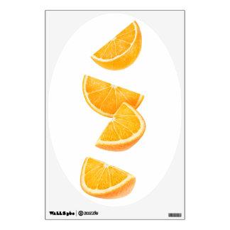 Falling orange pieces wall sticker