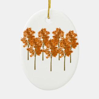 Falling Skies Ceramic Oval Ornament