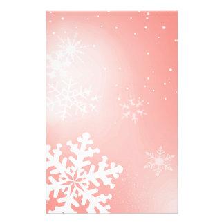 Falling Snowflake Customized Stationery