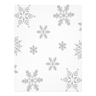 Falling Snowflakes Customized Letterhead