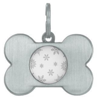 Falling Snowflakes Pet Name Tags