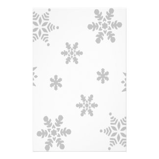 Falling Snowflakes Stationery Design