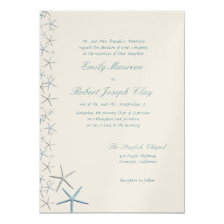 Falling Stars Parents Names Wedding Invitation